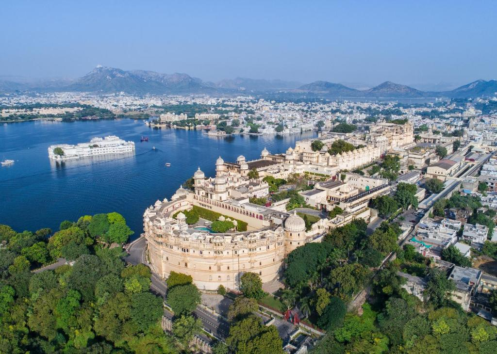 A bird's-eye view of Shiv Niwas Palace by HRH Group of Hotels