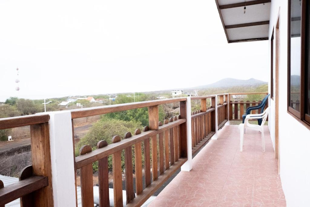 A balcony or terrace at Hostal Santa Maria