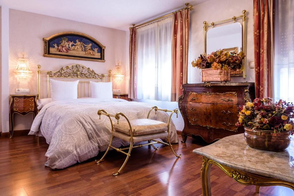 Cama o camas de una habitación en Casa de Reyes