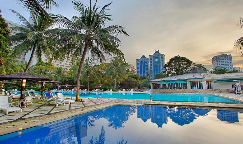 The swimming pool at or near Hotel Borobudur Jakarta