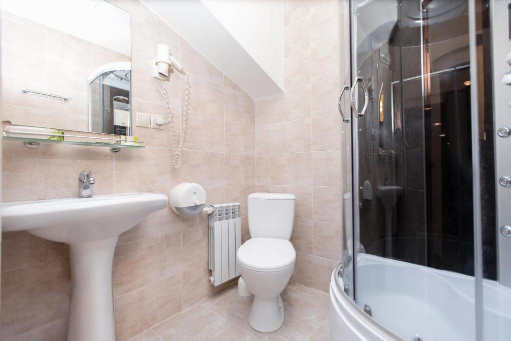 Ванная комната в Отель Матрешка