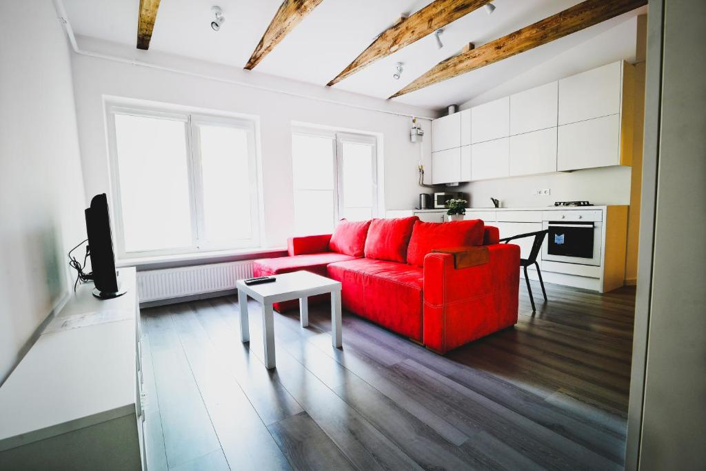 Svetainės erdvė apgyvendinimo įstaigoje Perfect Apartments