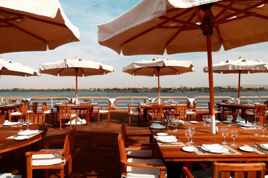 A restaurant or other place to eat at M/S Nile Goddess Cruise - Luxor- Aswan - 04 & 07 nights Each Monday