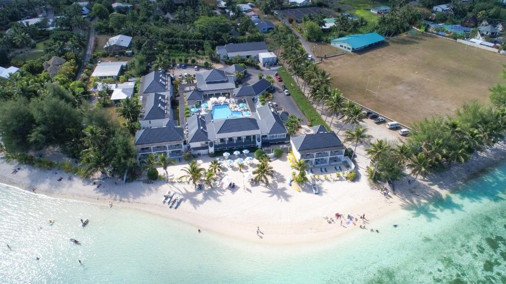 A bird's-eye view of Muri Beach Club Hotel