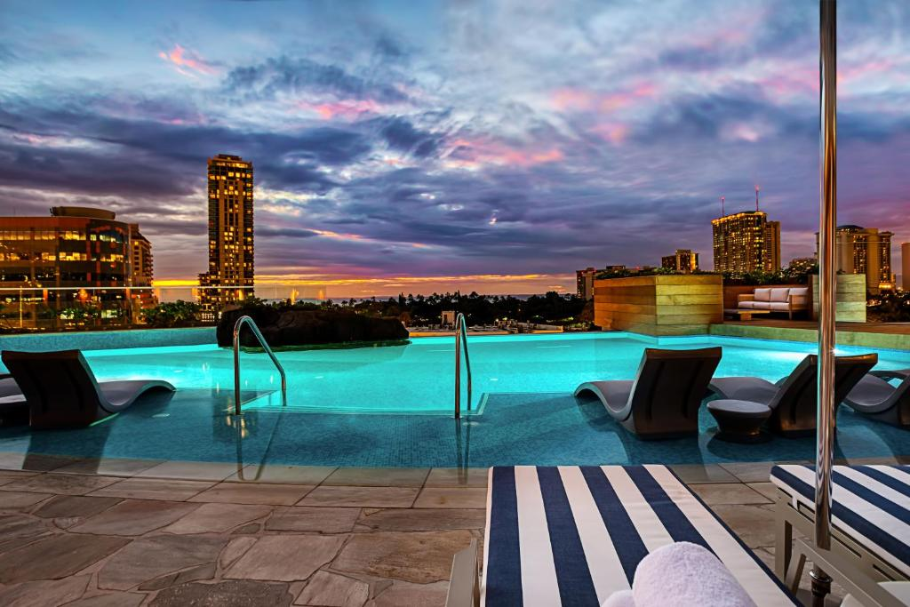 The swimming pool at or near The Ritz-Carlton Residences, Waikiki Beach Hotel