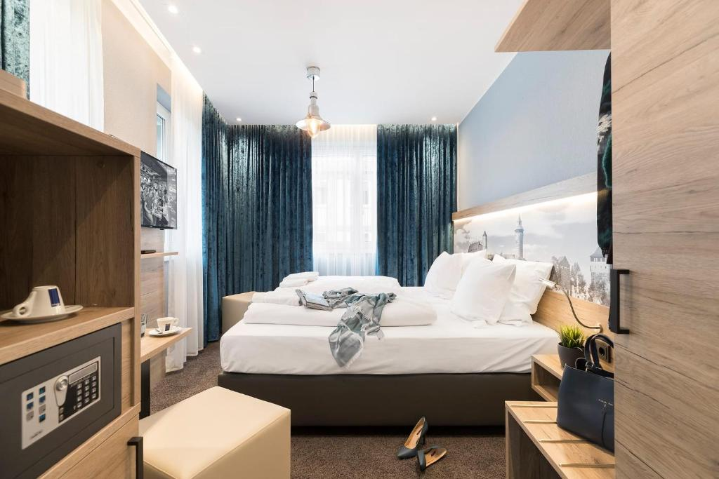 ホテル ダスパウルにあるベッド
