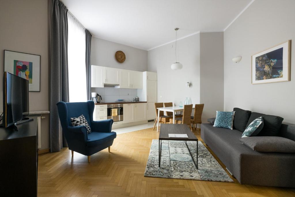 Svetainės erdvė apgyvendinimo įstaigoje Yourplace Biskupia Aparthotel