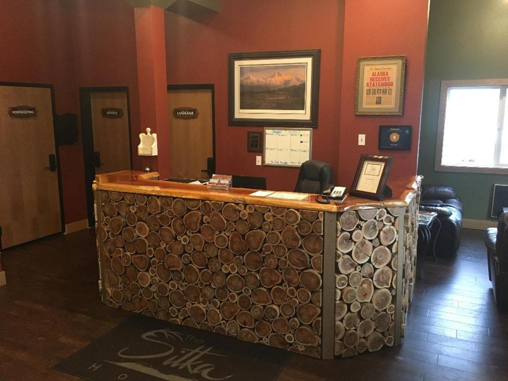 The lobby or reception area at Sitka Hotel