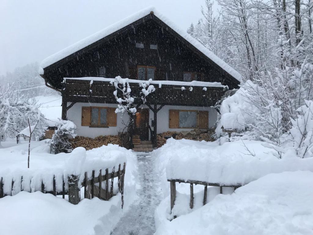 Ferienhaus Bad Hindelang during the winter
