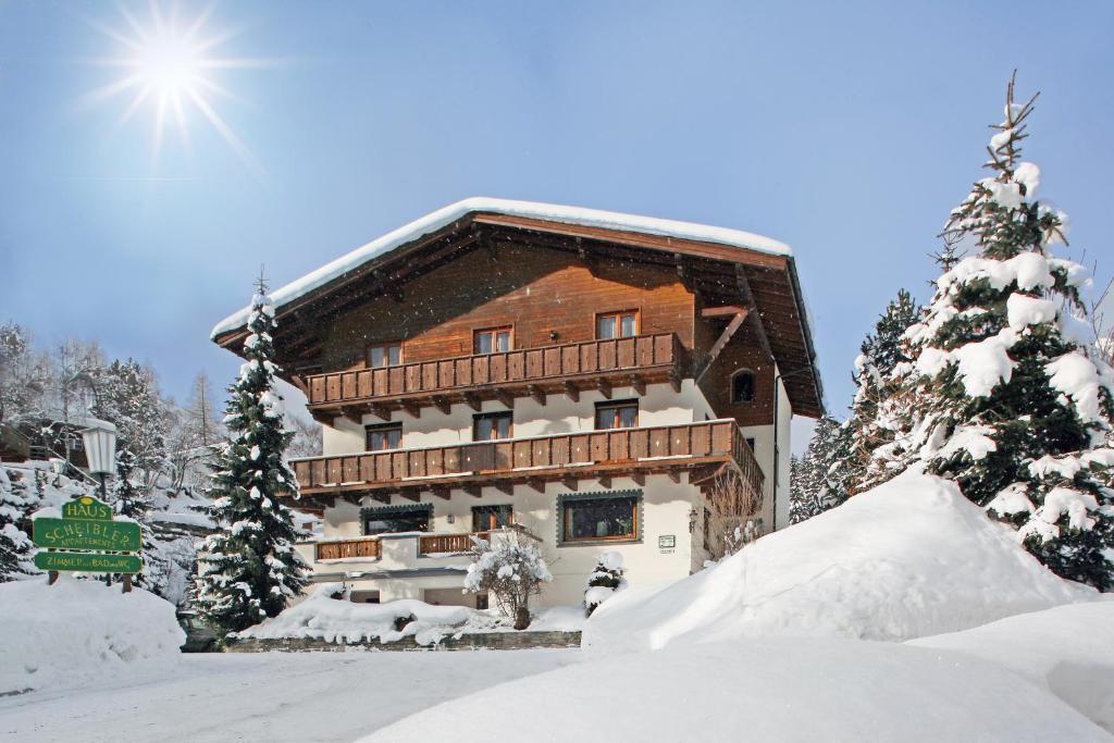 Haus Scheibler during the winter