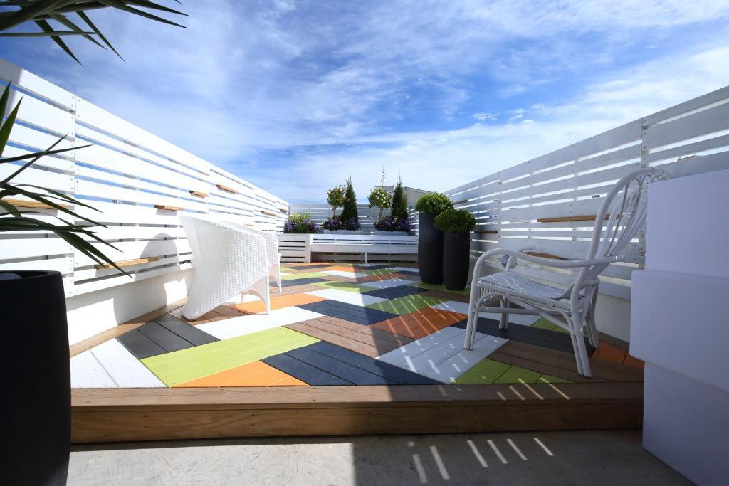 A balcony or terrace at 321公寓民宿