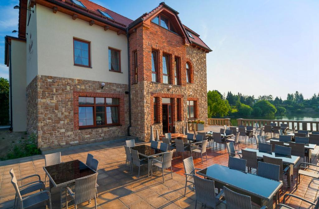 A restaurant or other place to eat at Hotel Plumlov