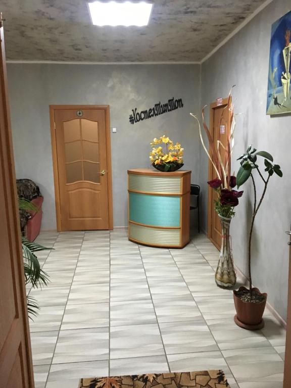 The lobby or reception area at Hostel Tip-Top