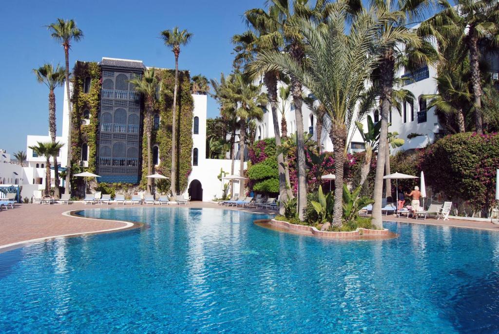 The swimming pool at or near Mogador Al Madina