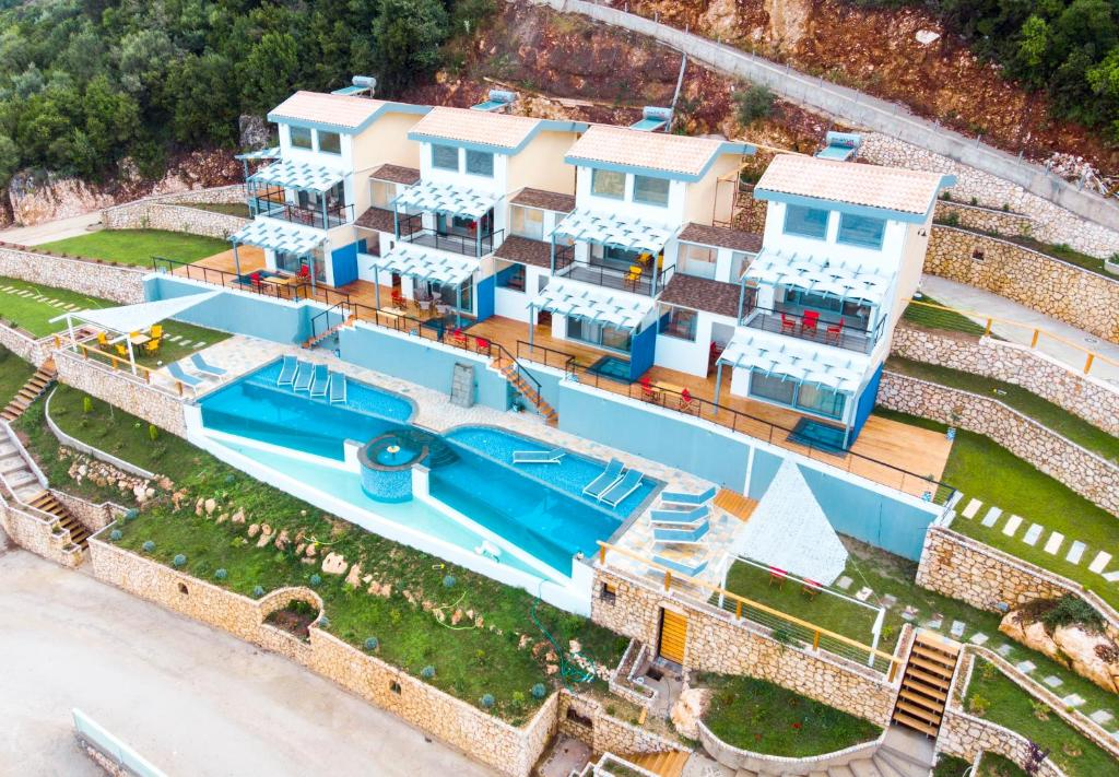 A bird's-eye view of Sappho Boutique Suites