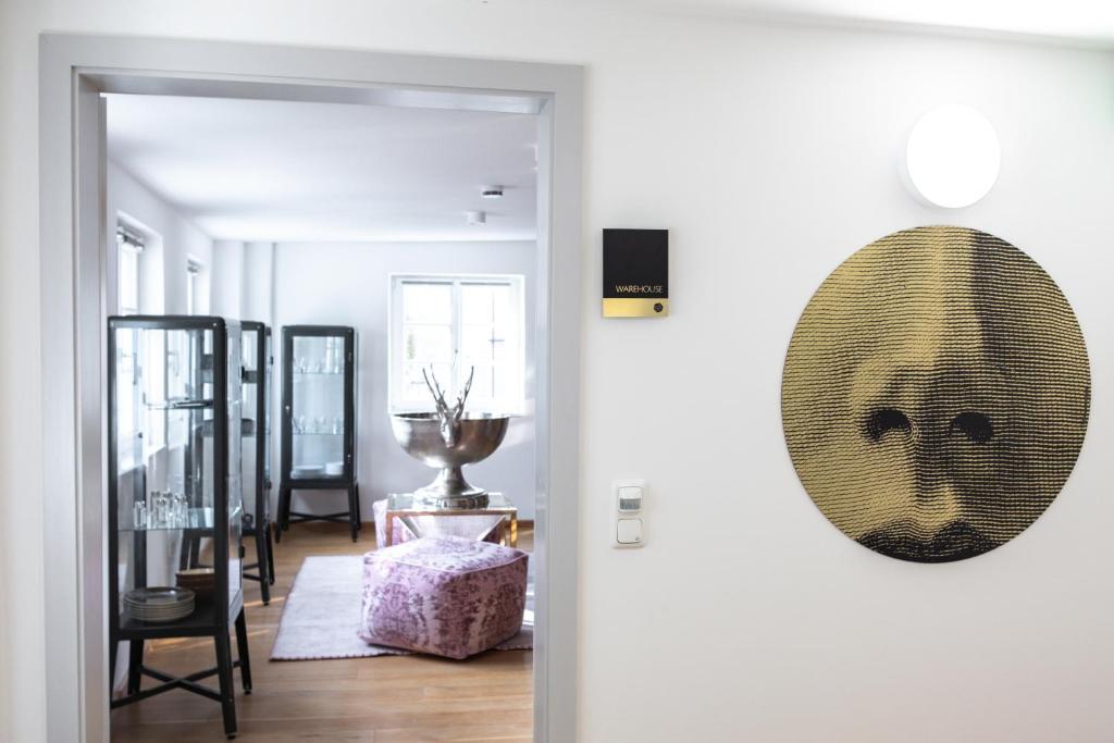 Ein Sitzbereich in der Unterkunft Arthotel Ana Living Augsburg City Centre