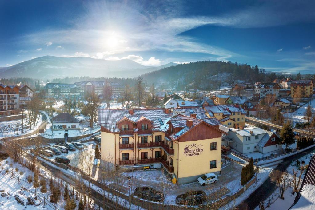 A bird's-eye view of Pensjonat Śnieżka SPA