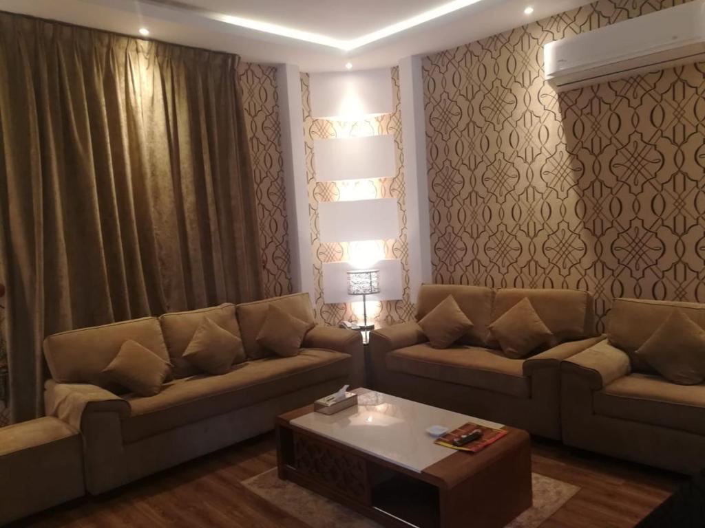 A seating area at Taj Al Fakhama