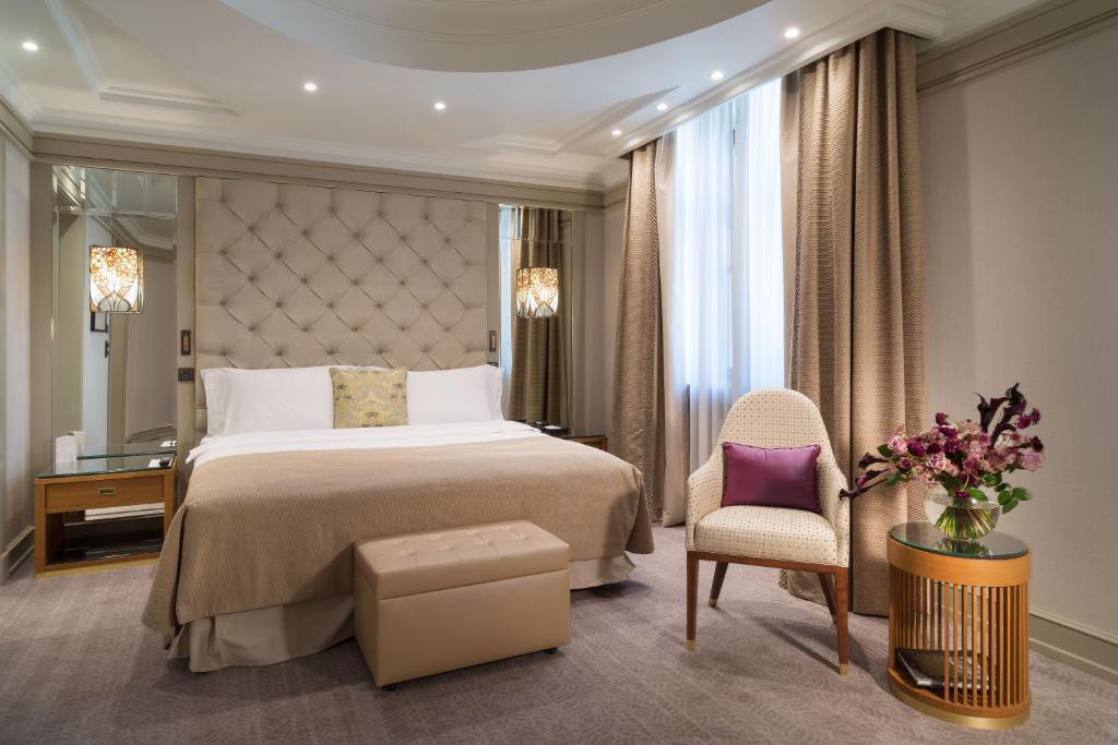 Кровать или кровати в номере Гостиница Метрополь
