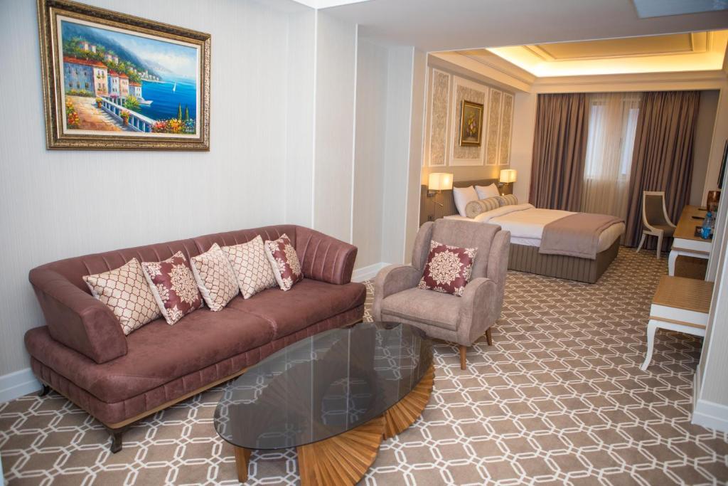 منطقة جلوس في Theatrum Hotel Baku