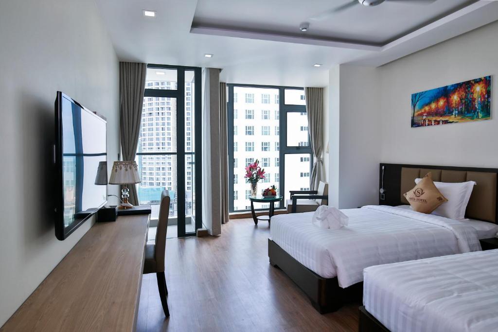 Phòng Giường Đôi/ 2 Giường Đơn Nhìn ra Thành phố