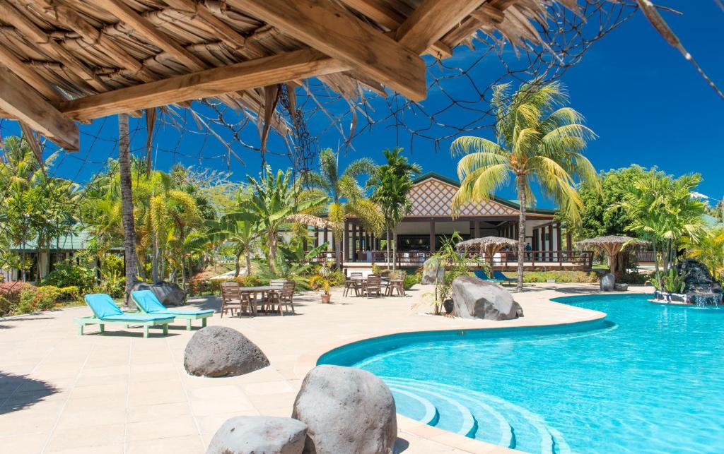 The swimming pool at or near Amoa Resort