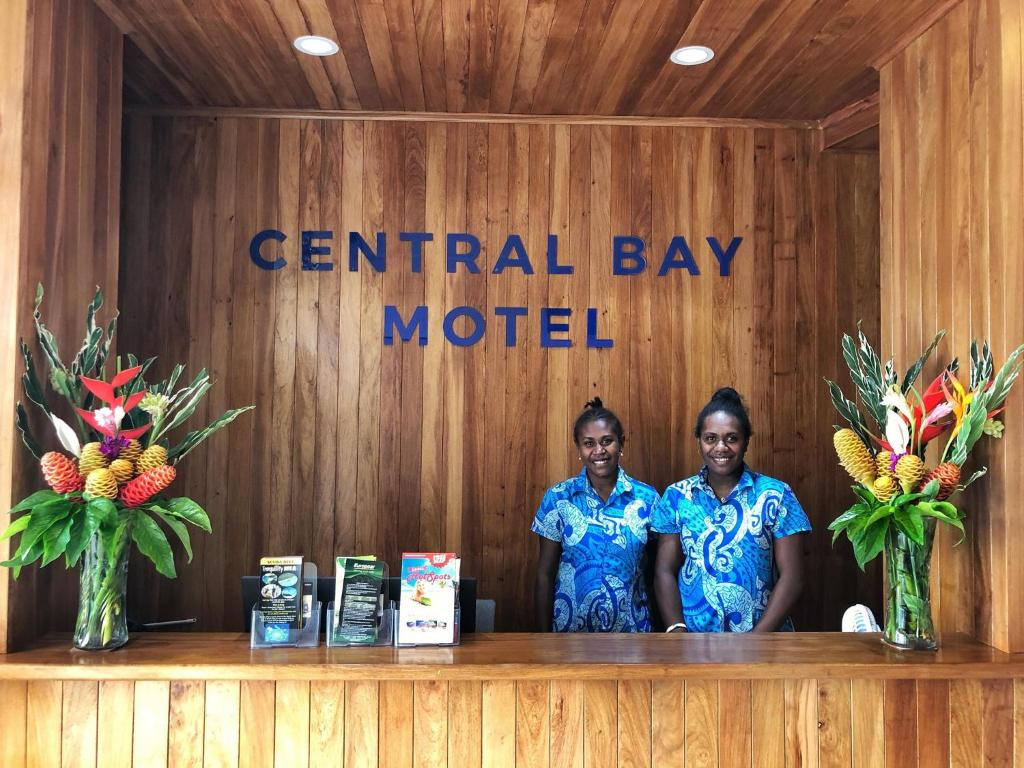 The lobby or reception area at Central Bay Motel