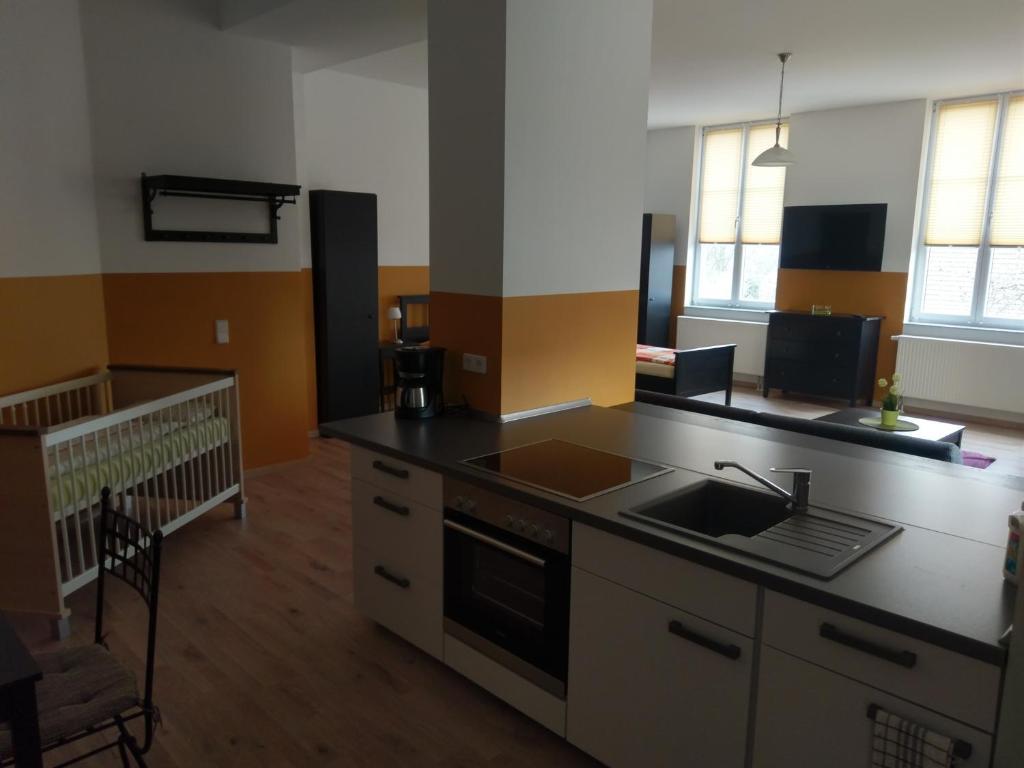 Køkken eller tekøkken på Mehrower Hof