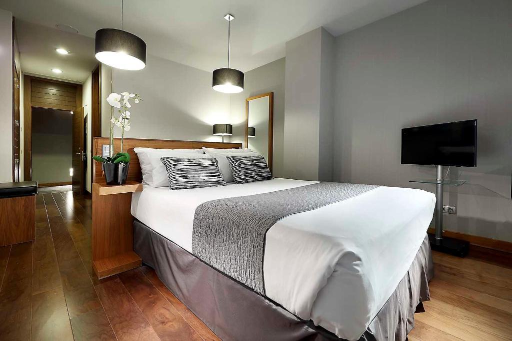 Ein Bett oder Betten in einem Zimmer der Unterkunft Eurostars Madrid Congress