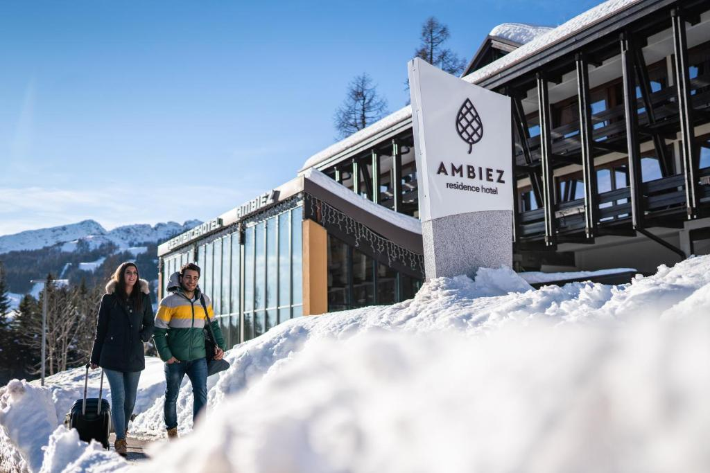 Ambiez Residencehotel during the winter