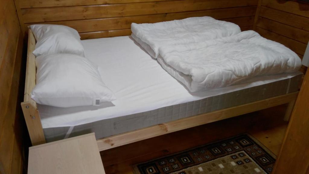 Кровать или кровати в номере Гостевой дом Белые Росы
