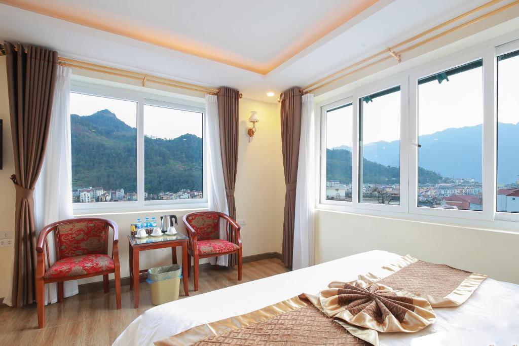 Phòng cho 3 Người Nhìn ra Núi