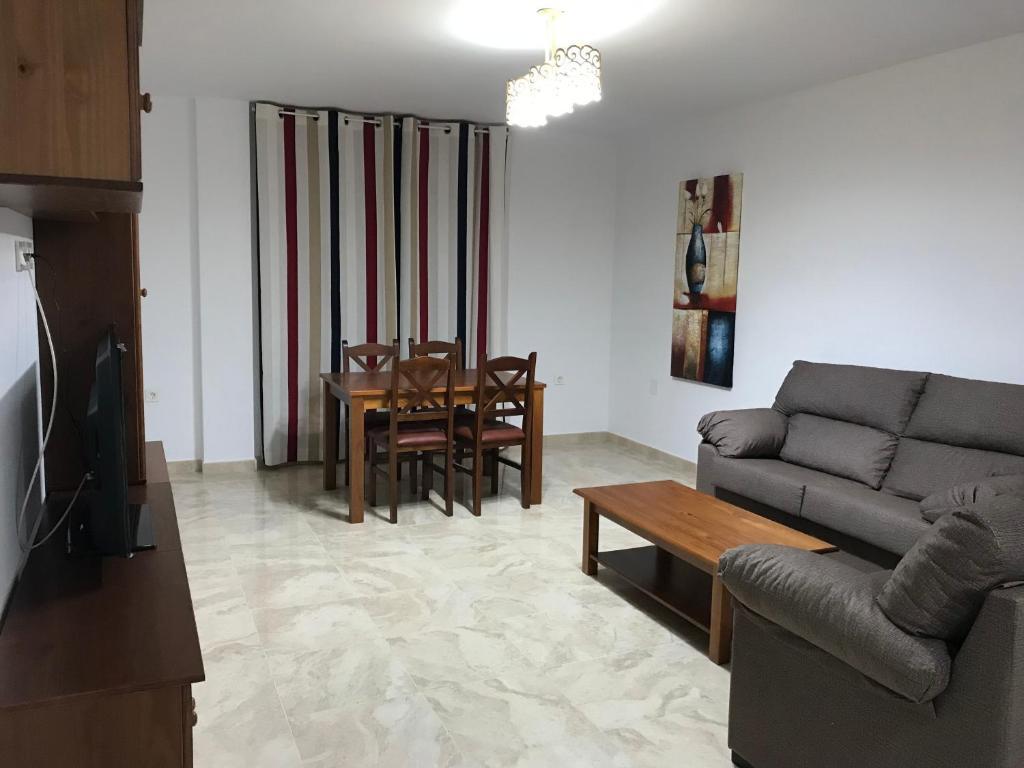 Ruang duduk di Apartamentos Turisticos Arquimedes