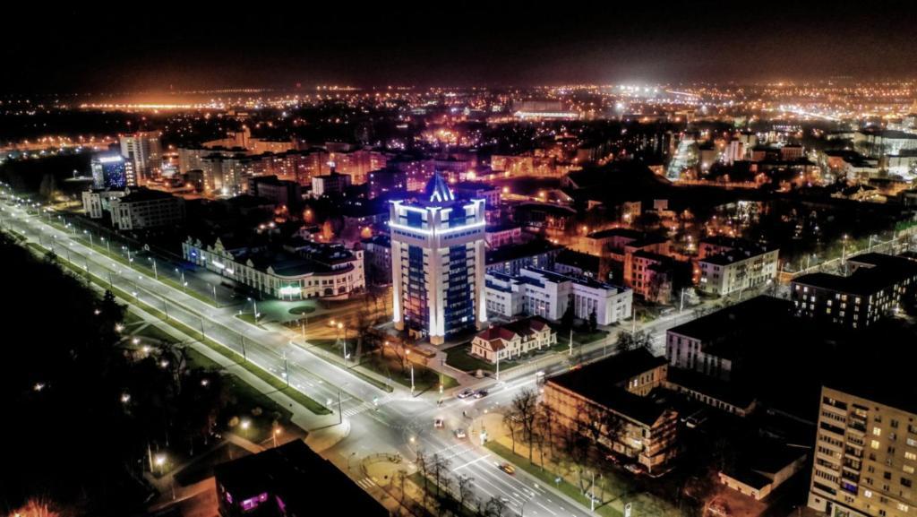Общий вид на город Брест или вид на город из апартаментов