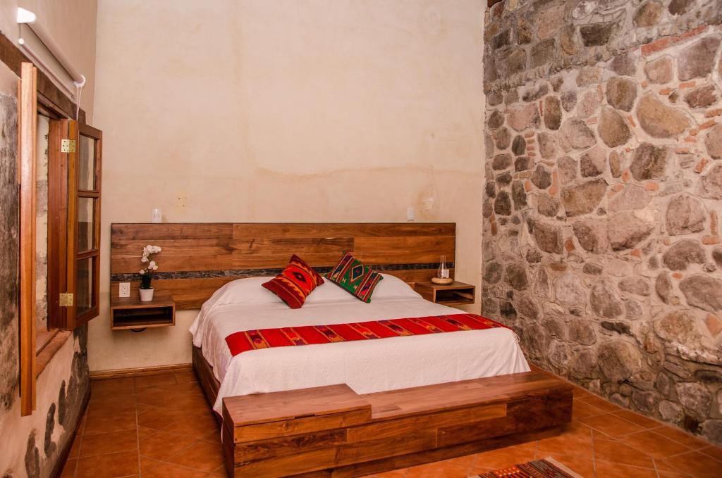 Cama o camas de una habitación en Ex Hacienda San Antonio Hotel & Spa
