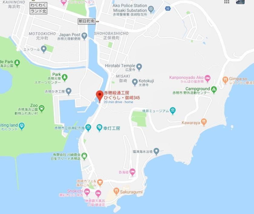 赤穂緞通工房Misaki345の鳥瞰図