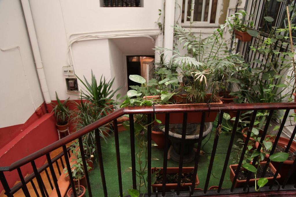 A balcony or terrace at Central Station Hostel Barcelona
