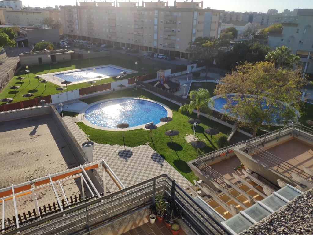 Atico Terrazas Vistas Piscinas Parking 2 Baños Jerez De La
