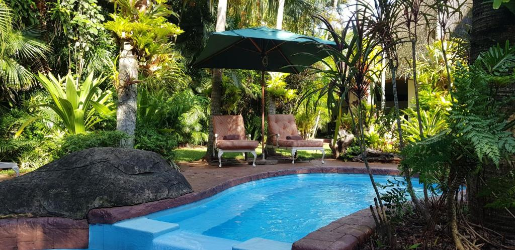 The swimming pool at or near African Ambience Guest House