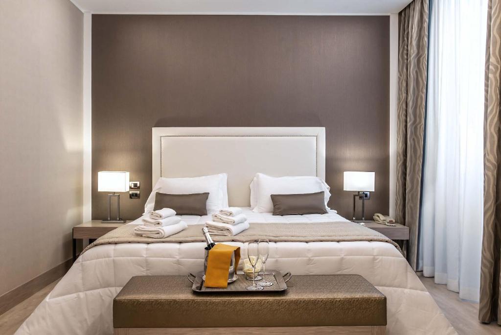 Cama o camas de una habitación en Hotel Genova
