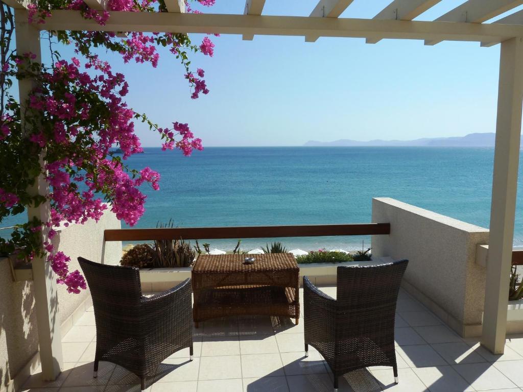 A balcony or terrace at Sitia Bay