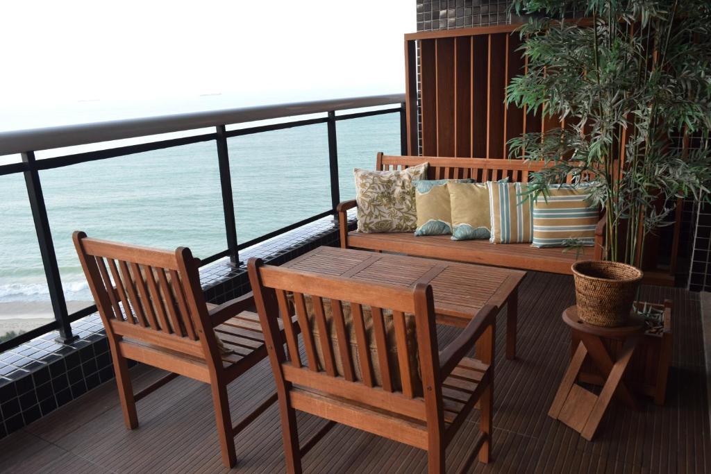 A balcony or terrace at Grupo Vip Landscape Fortaleza