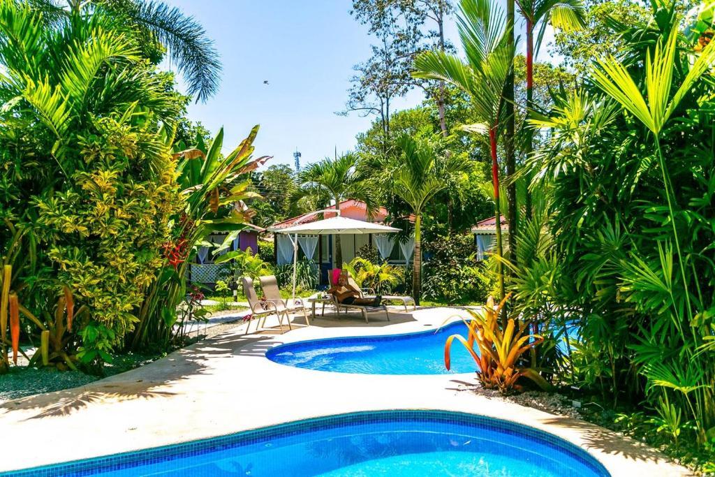 Der Swimmingpool an oder in der Nähe von Hotel El Encanto