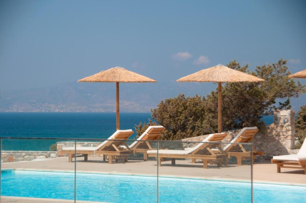 The swimming pool at or near Phoenicia Naxos