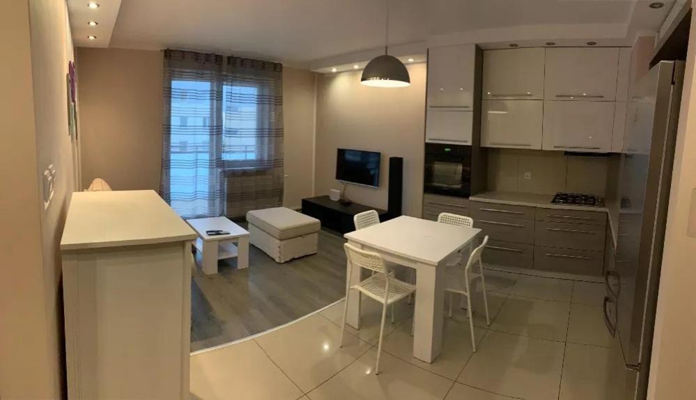 A seating area at Apartament Ryska 3A
