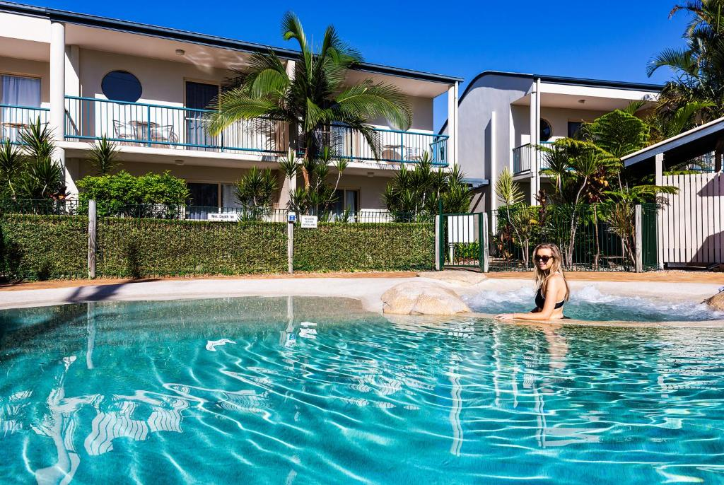 The swimming pool at or near Anchor Motel Noosa