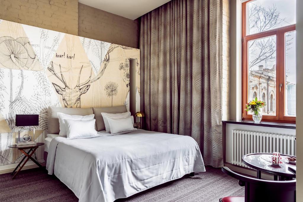 Cama o camas de una habitación en Boutique hotel VILLA PERLOV