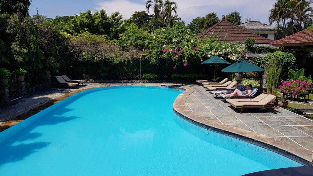 The swimming pool at or near Mentari Sanur Hotel