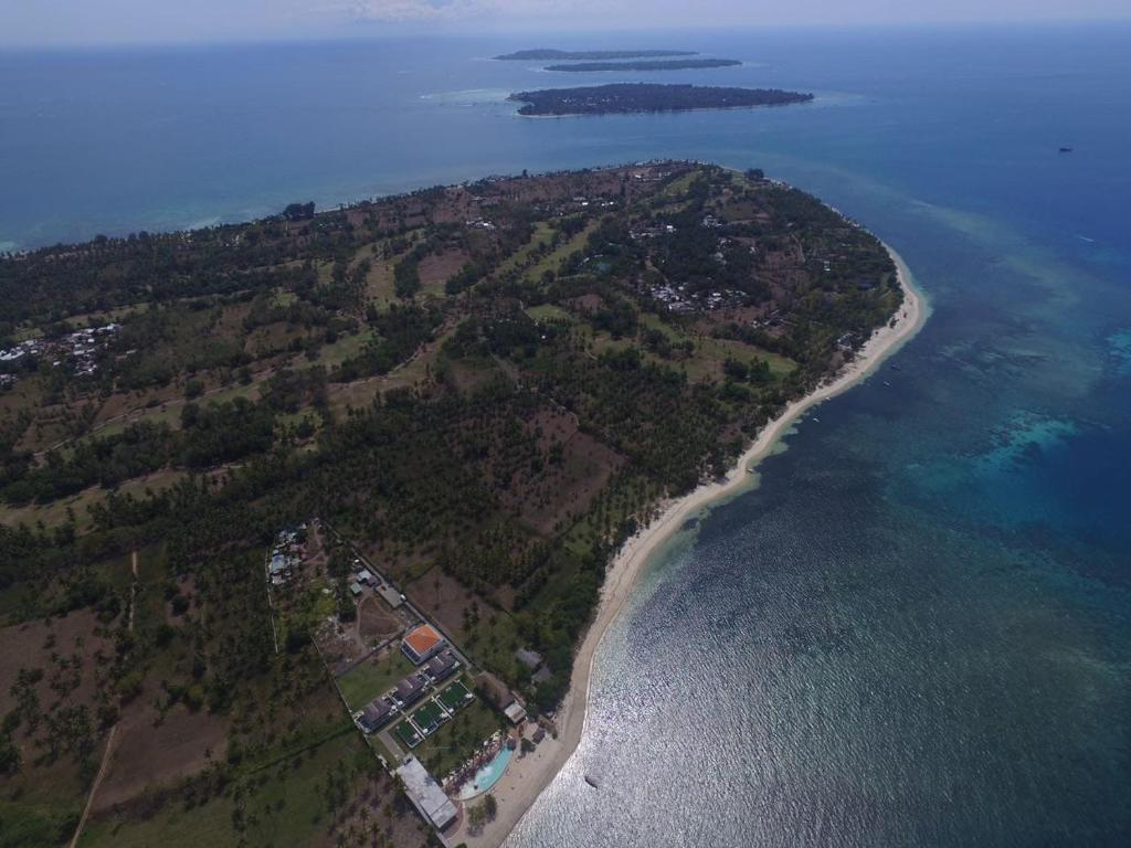 A bird's-eye view of Anema Dive Gili Lombok
