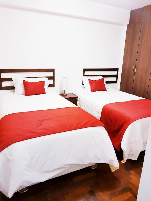 A bed or beds in a room at terrapartment